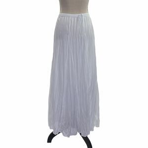 New Directions White Elastic Flowy Maxi Skirt S